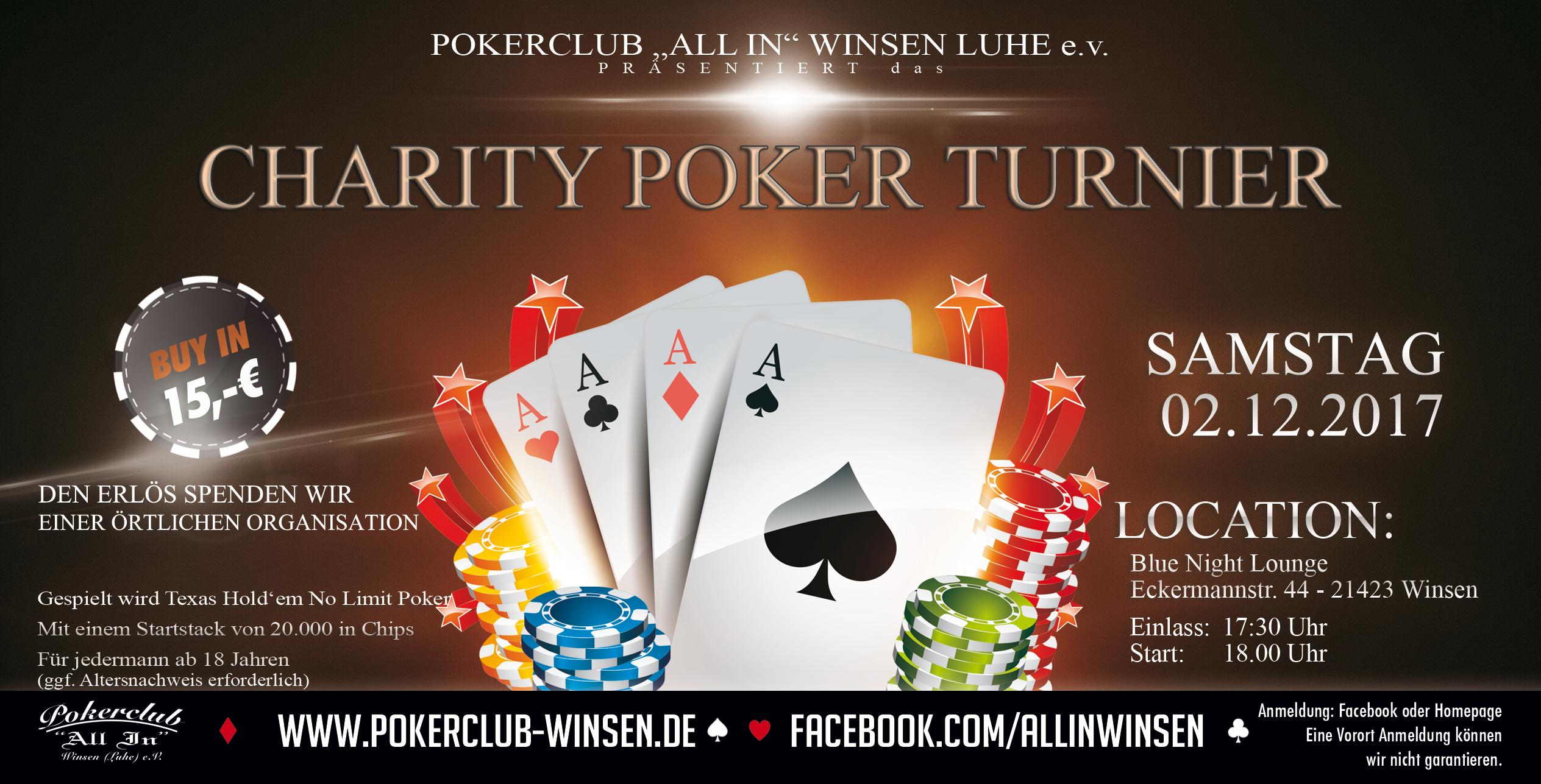 Charity Texas Hold'em Pokerturnier 2017