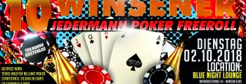 10. Jedermann Freeroll Texas Hold'em Pokerturnier