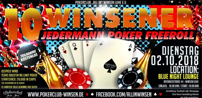 10. Winsener Jedermann Poker Freeroll